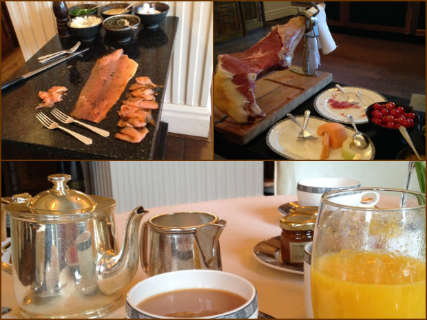 Breakfast at Gleneagles Hotel
