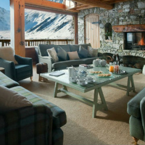 Sitting Room at Le Chardon Chalet