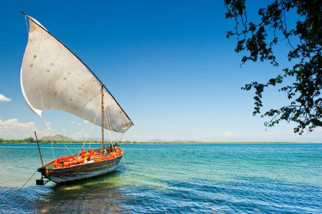 Sailing boat in Malawi