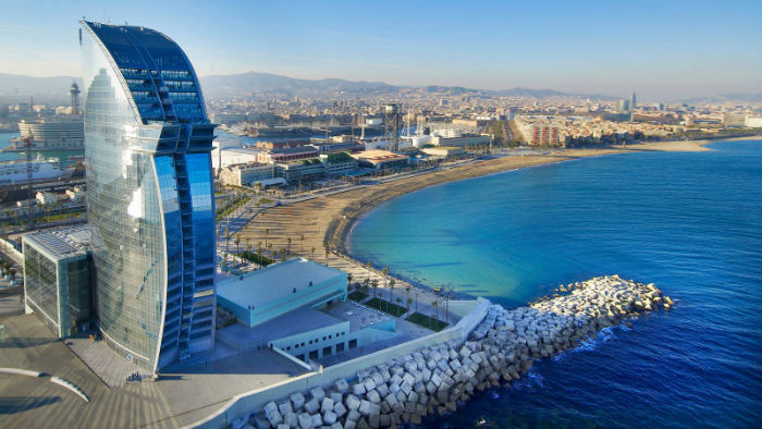Located On The Newer Barcelona Boardwalk Area With Views Looking Out To Sea This Hotel Has Wow Factor From Start Finish Away City Centre