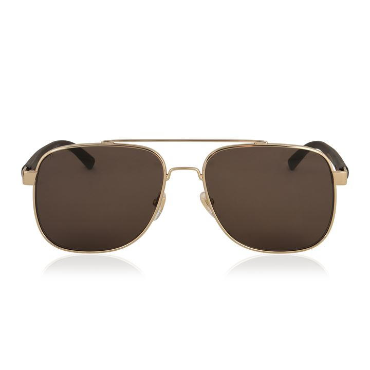 0cdf8c665d Another pair of Gucci sunglasses you cannot be without! This style boasts a  thin square frame with a brow bar and rubber branded arms.